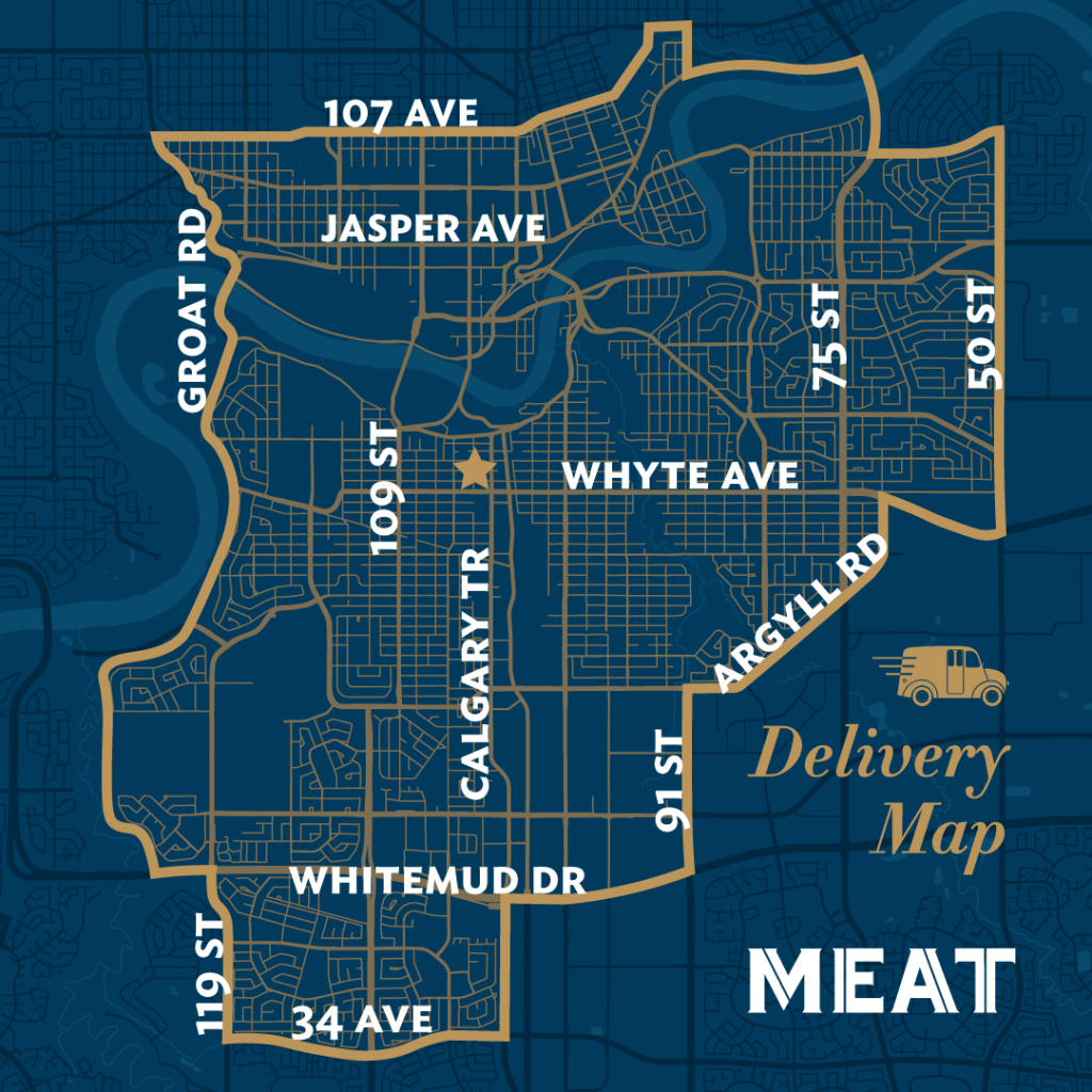 MEAT delivery map